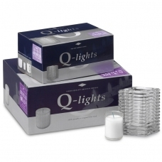 Q-Lights® Square Ribbed glass helder